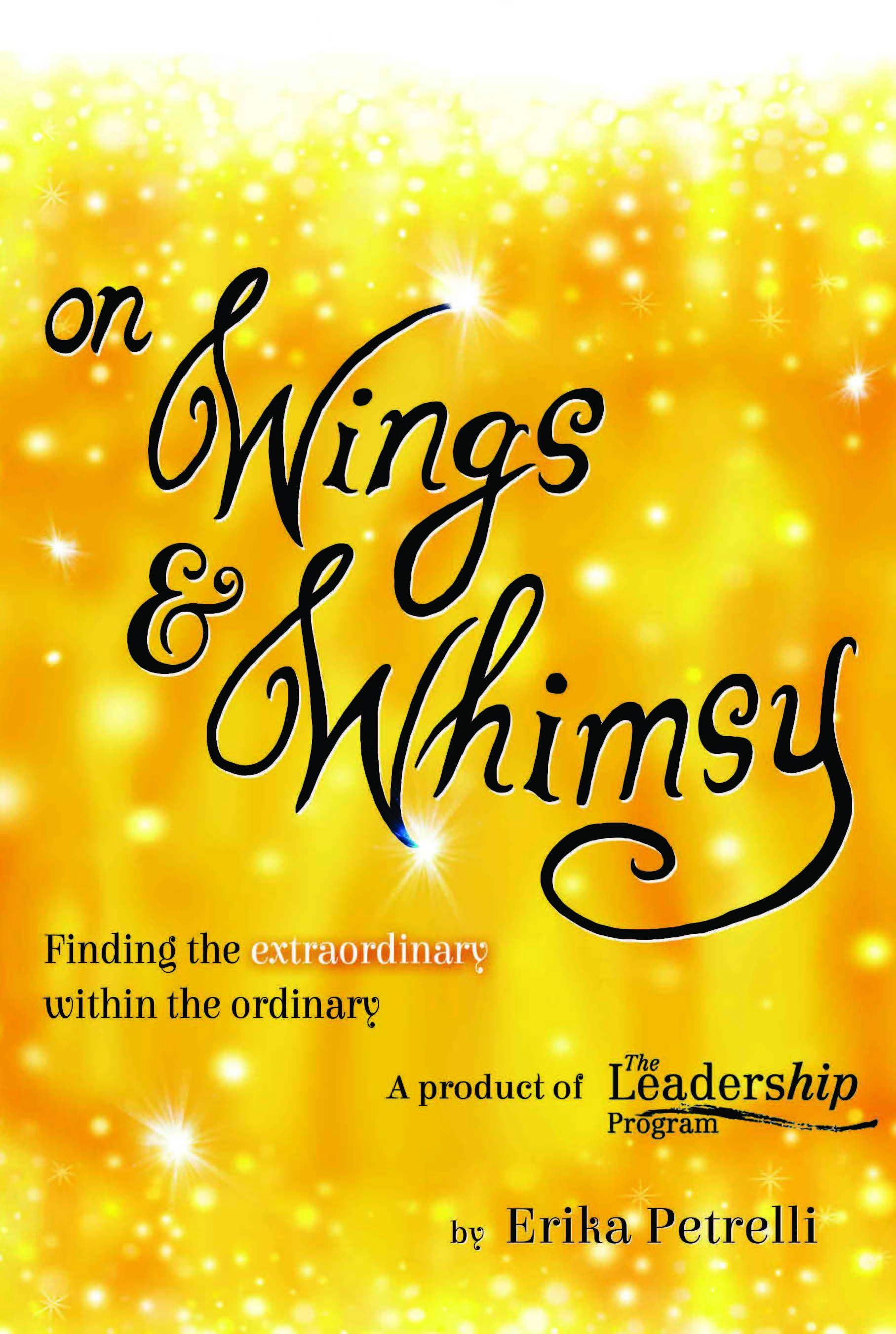 Book cover On Wings and Whimsy by Erika Petrelli