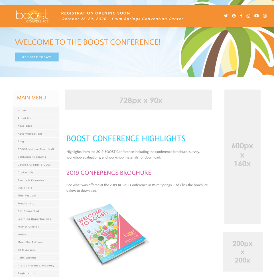 boost conference web banners